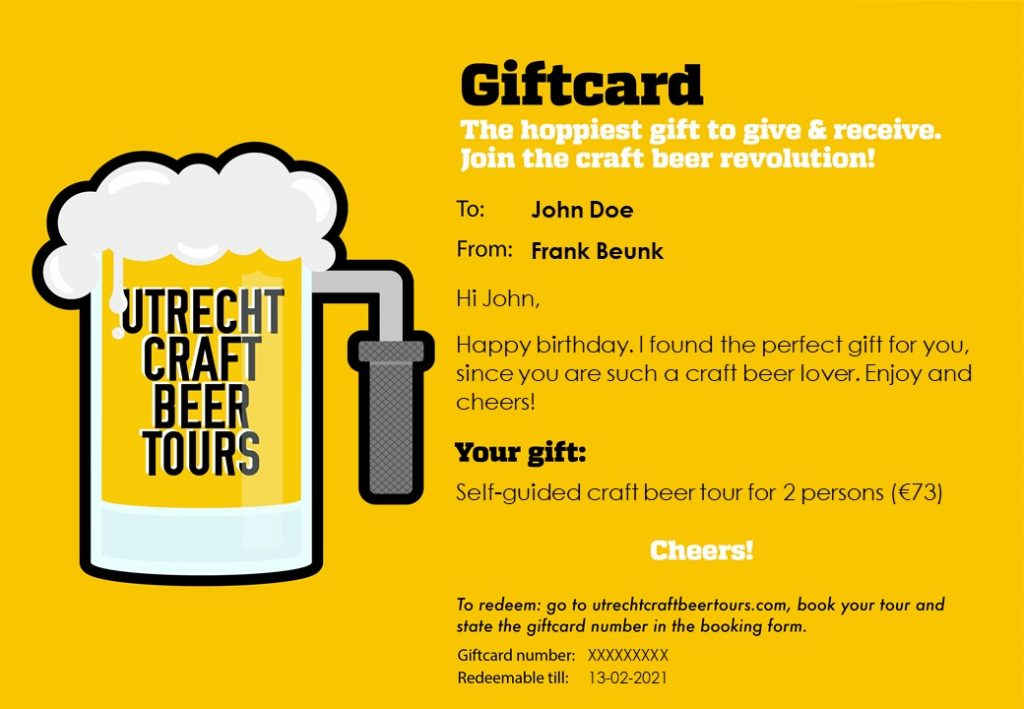 Craft Beer giftcard